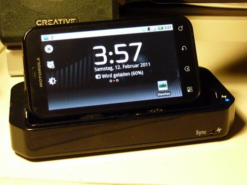 JKE Motorola DEFY docking station project