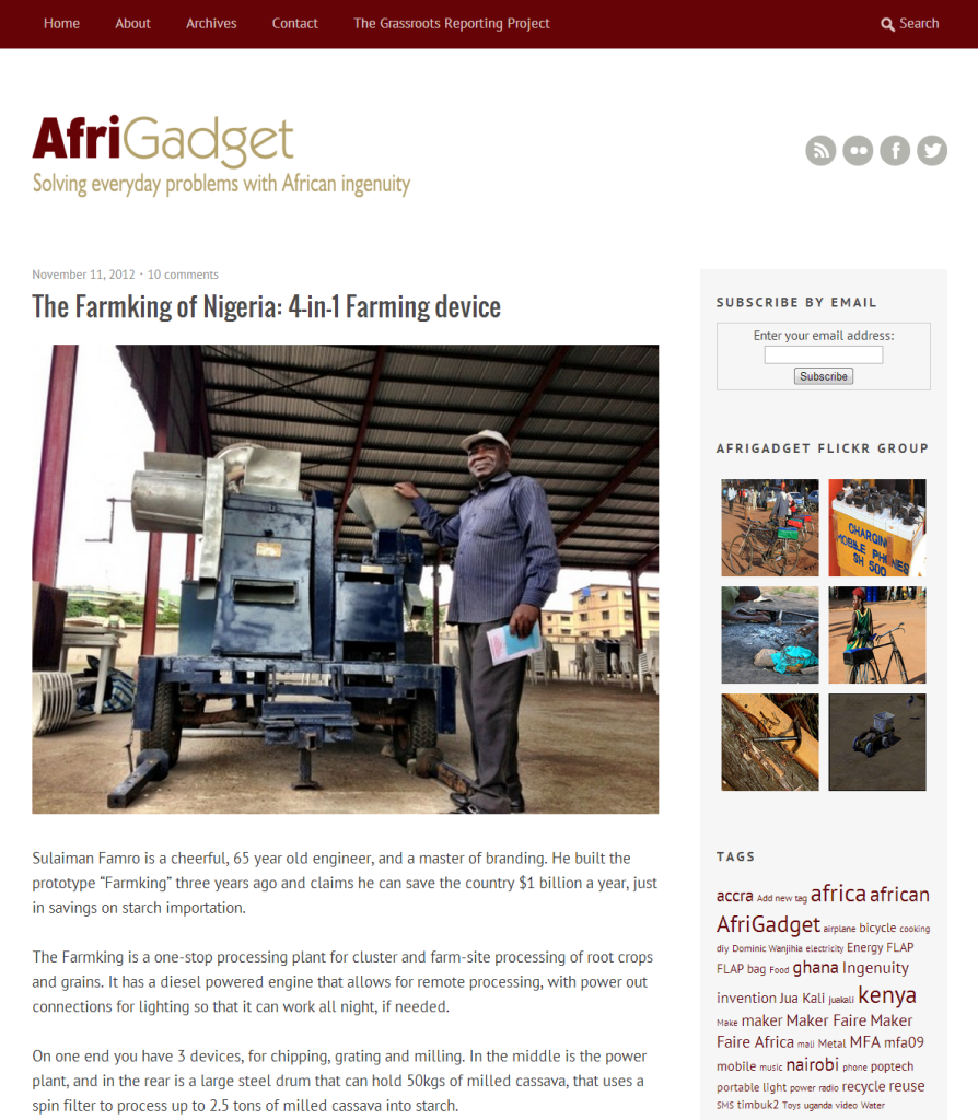 AfriGadget   Solving everyday problems with African ingenuity