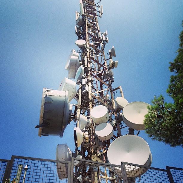 Mobilfunkmast auf dem Puig de Sant Salvador, Mallorca