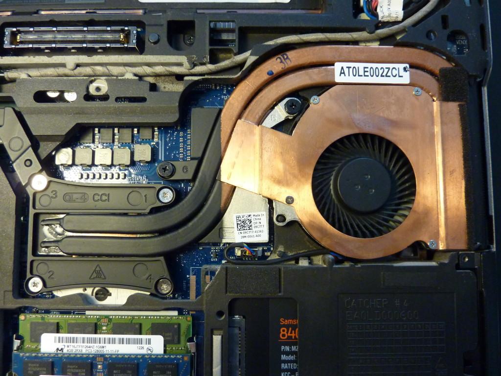 Vent on the Dell Latitude E6430