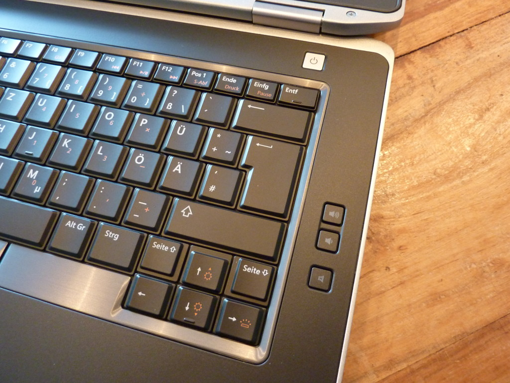 volume control on the Dell Latitude E6430 - simple, but  effective