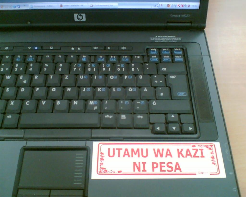 Bild vom Aufkleber auf meinem Laptop